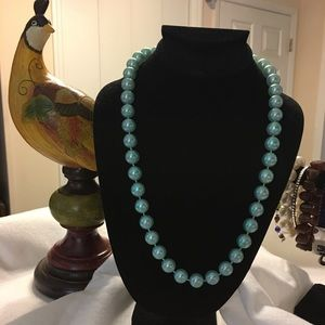 VINTAGE Shiny Neon-Looking Blue Beads
